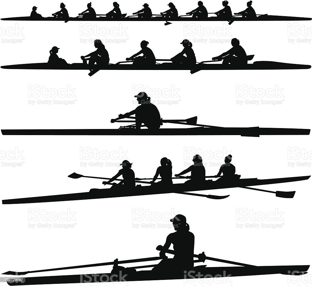 royalty free rowing clip art vector images illustrations istock rh istockphoto com rowing team clipart rowing oars clipart