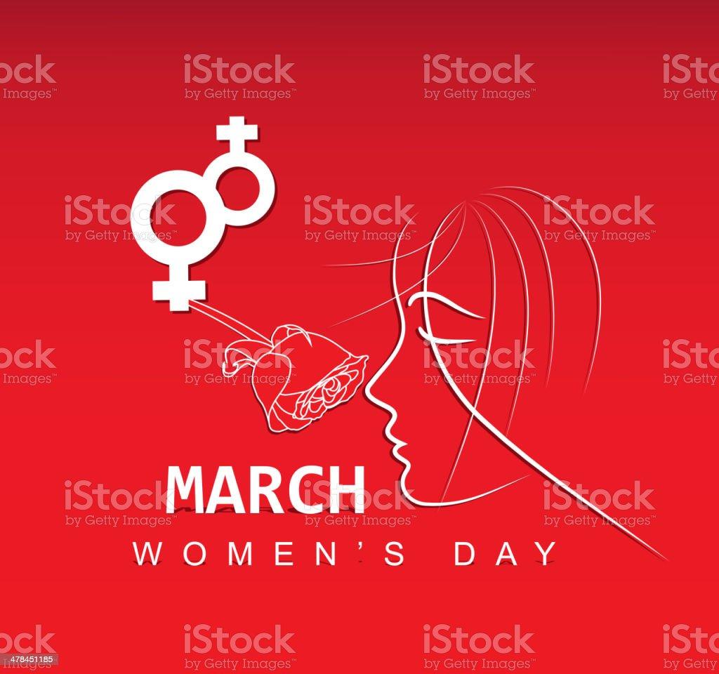 Women's day background vector art illustration