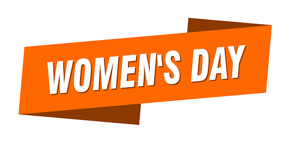 women's day banner template. women's day ribbon label sign