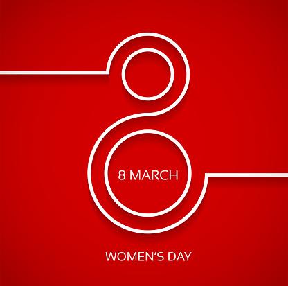 Women's day design background