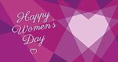 Women's Day Geometric Heart - Illustration