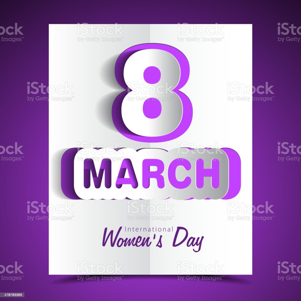 Women's day greeting card beautiful colorful illustration vector vector art illustration