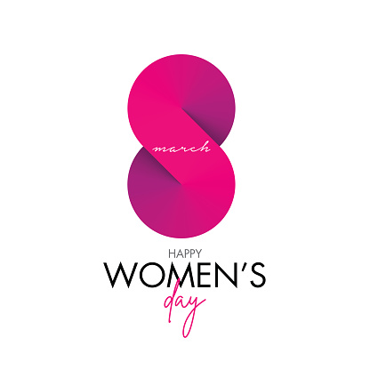 Women's Day Greeting Card stock illustration. 8 March day of Women