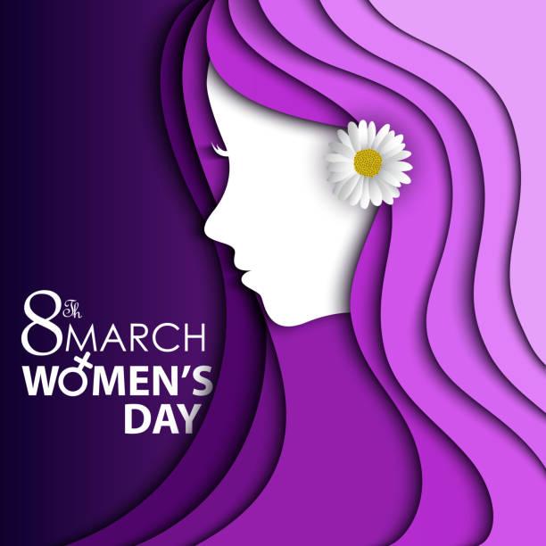 illustrations, cliparts, dessins animés et icônes de des femmes jour carte de voeux - mars