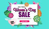 Women's day sale banner