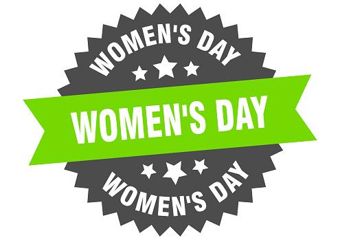 women's day sign. women's day circular band label. round women's day sticker