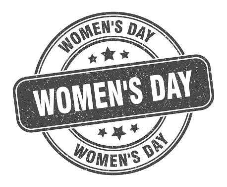women's day stamp. women's day label. round grunge sign