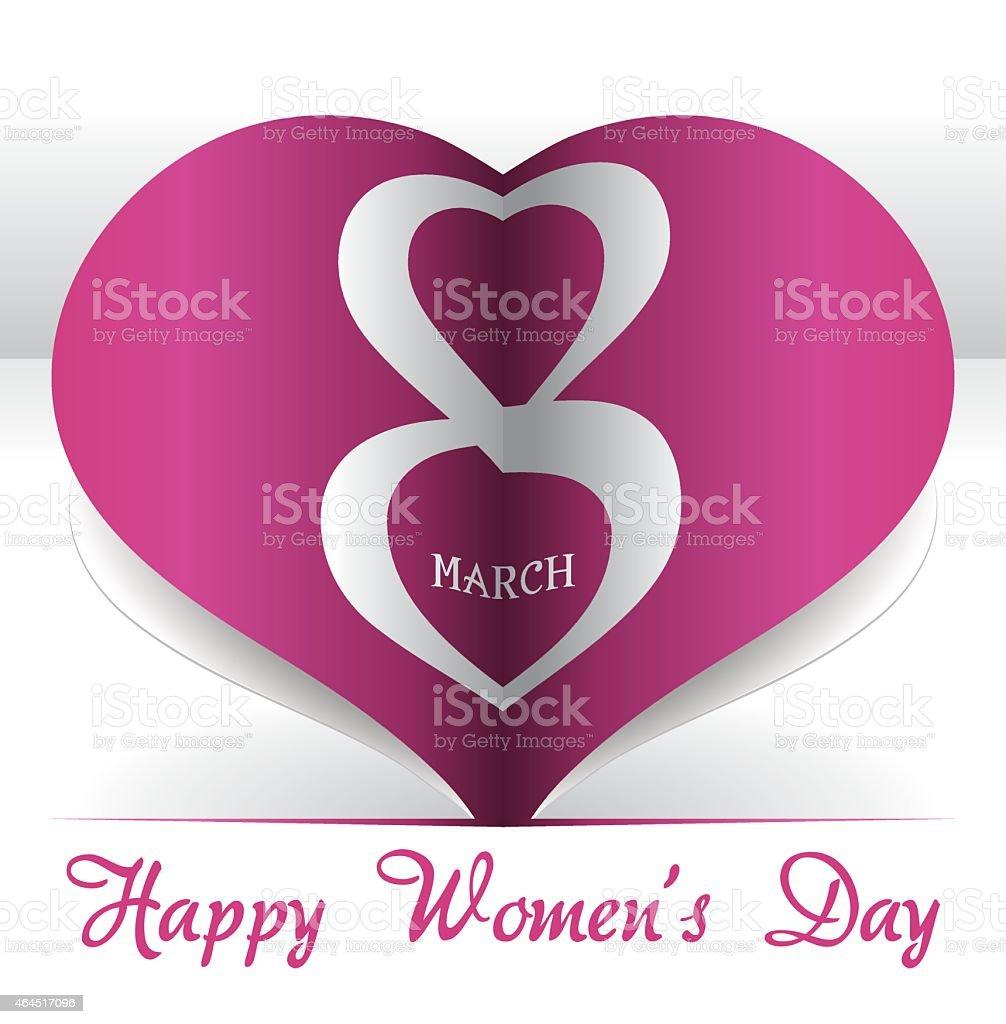 womens day vector art illustration