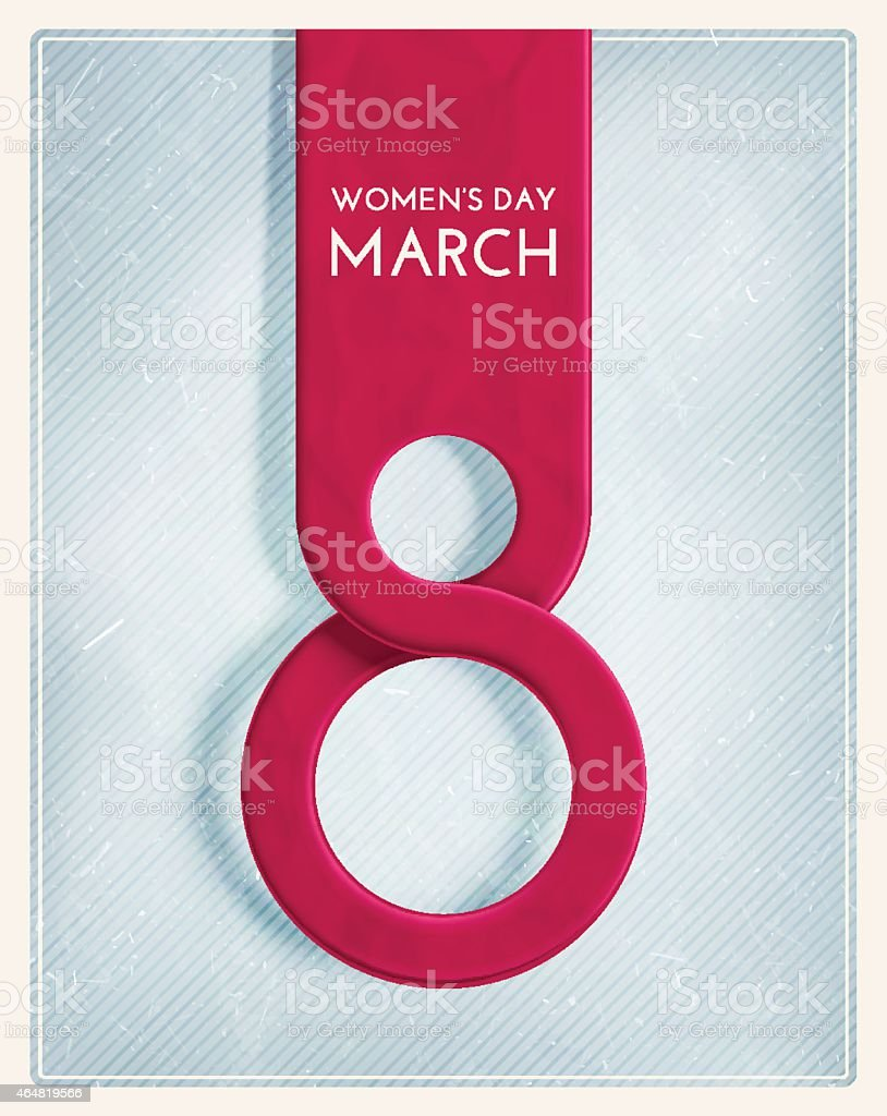 8 March, International Women's Day. Illustration contains...