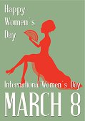 an editable vector file with women's Day theme