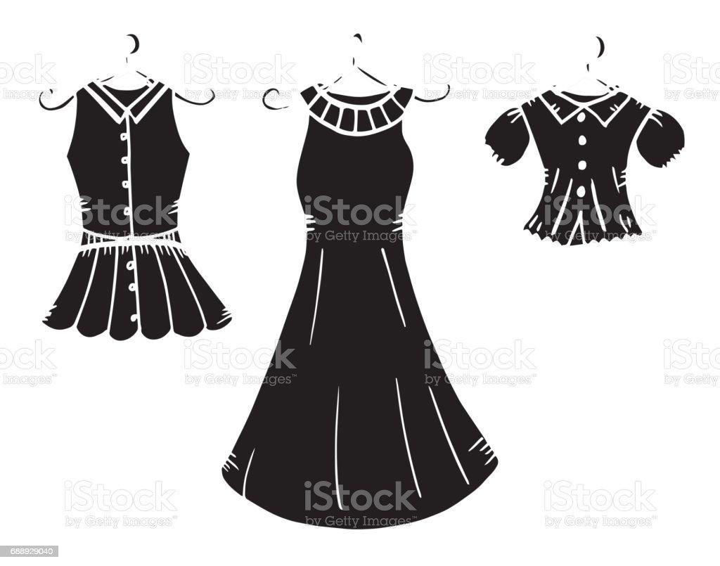 Ilustración De De Las Mujeres Vestido Ropa Dibujo