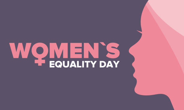 women's equality day in united states. female holiday, celebrated annually in august 26. women right history month. feminism concept. poster, greeting card, banner and background. vector illustration - tylko kobiety stock illustrations