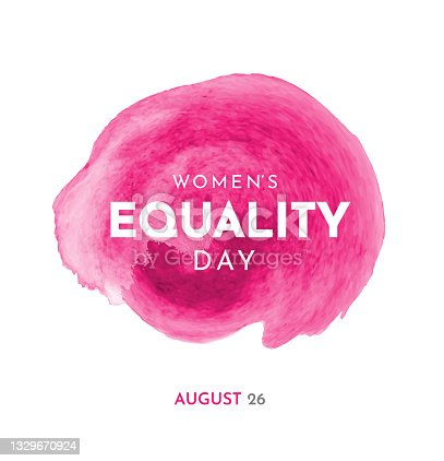 istock Women's Equality Day, watercolor. Vector 1329670924