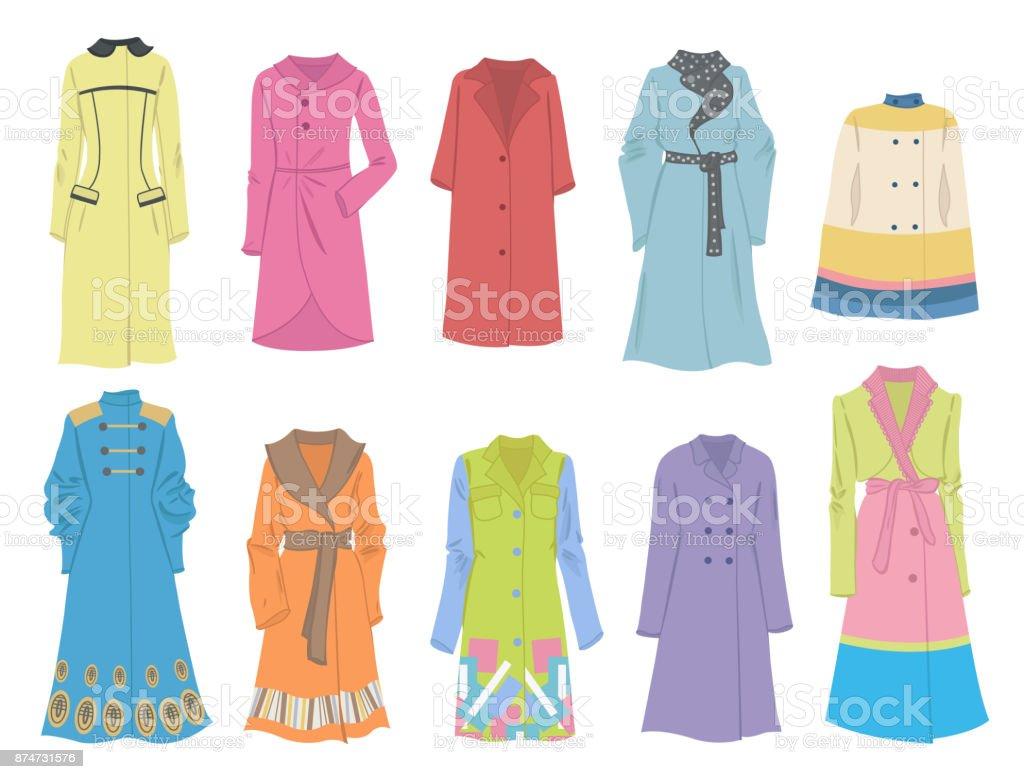 Abrigos Vectorial Stock Arte Imágenes Y De Otoño Más Mujer r1wUqzrx