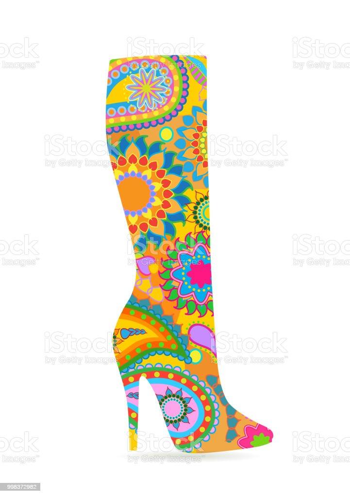 5b807bd35c8 Bottes de mode féminine bottes de mode féminine – cliparts vectoriels et  plus d images