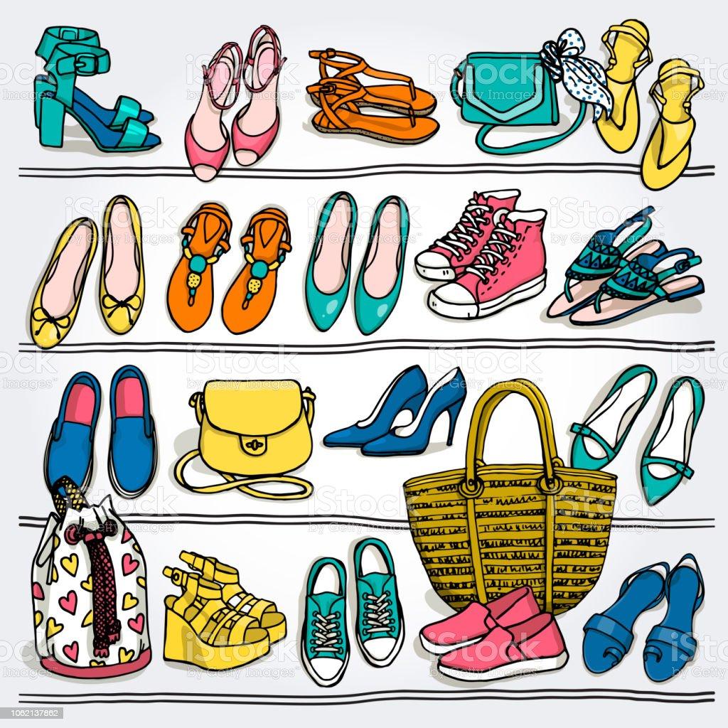 ebd53ce28e Women s fashion collection accessories. royalty-free womens fashion collection  accessories stock vector art  amp