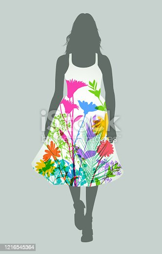 istock Women's Fashion Dress 1216545364
