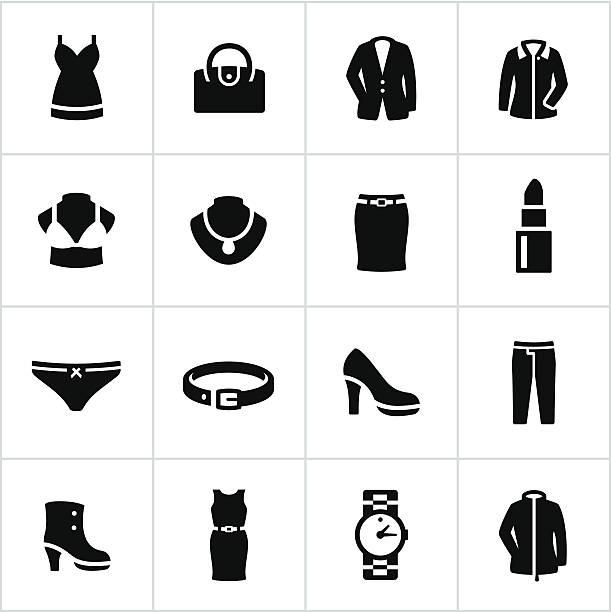 formelle kleidung symbole für damen - damenmode stock-grafiken, -clipart, -cartoons und -symbole