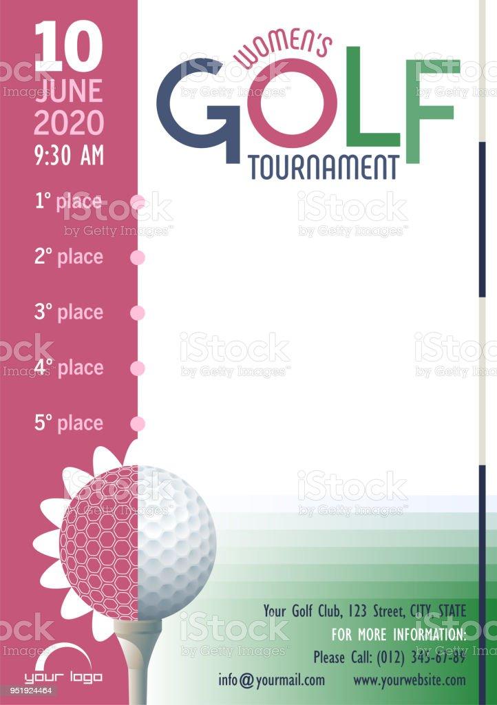 Womens Golf Tournament Poster Template Stock Vector Art & More ...