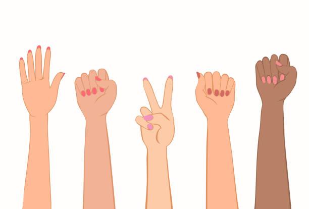 塗られた爪で女性の手。 - 拳 イラスト点のイラスト素材/クリップアート素材/マンガ素材/アイコン素材