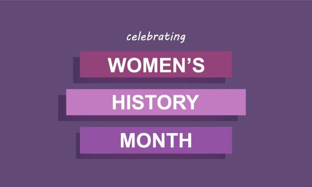 Women's History Month - card, poster, template, background. Vector EPS 10 vector art illustration