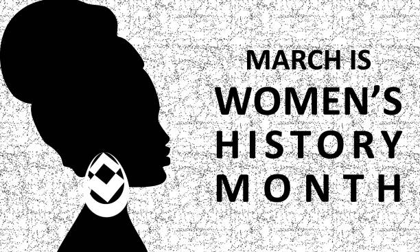 Women's History Month - card, poster, template, background vector art illustration