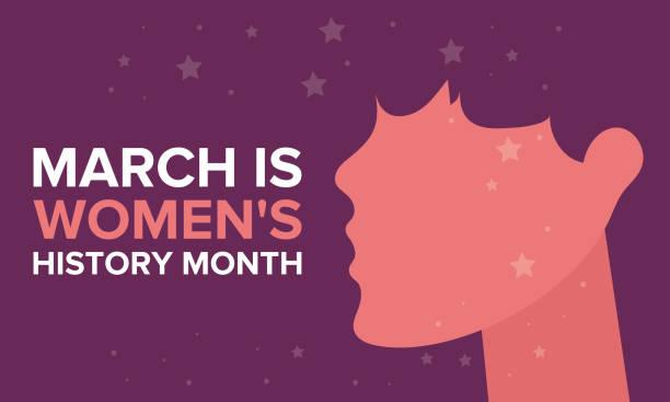 stockillustraties, clipart, cartoons en iconen met vrouwengeschiedenis maand. gevierd in maart in de verenigde staten, het verenigd koninkrijk en australië - geschiedenis