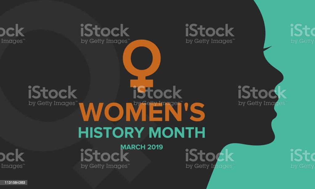 여성 역사의 달. 미국, 영국, 호주에서 3 월에 축 하 - 로열티 프리 3월 벡터 아트