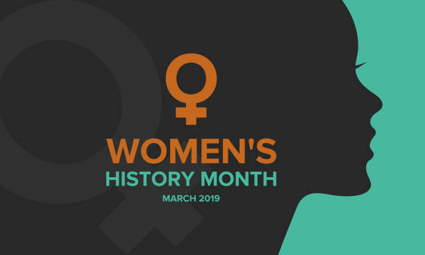 Women's History Month. Celebrated during March in the United States, United Kingdom, and Australia Women's History Month. The annual month that highlights the contributions of women to events in history. Celebrated during March in the United States, United Kingdom, and Australia. Vector poster month stock illustrations