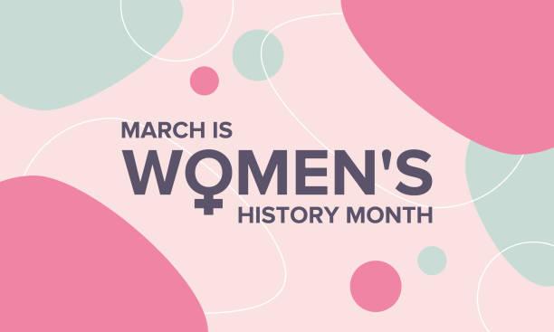 여성 역사의 달. 미국, 영국, 호주에서 3 월에 축 하 - 여성 문제 stock illustrations