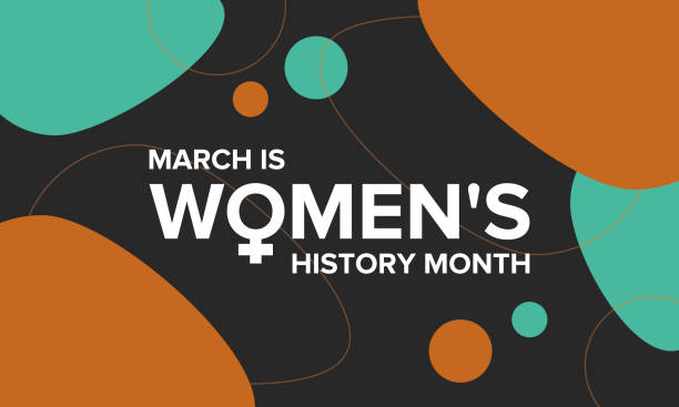 Women's History Month. Celebrated during March in the United States, United Kingdom, and Australia Women's History Month. The annual month that highlights the contributions of women to events in history. Celebrated during March in the United States, United Kingdom, and Australia. Vector poster history stock illustrations