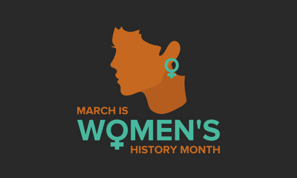 women's history month. celebrated during march in the united states, united kingdom, and australia - tylko kobiety stock illustrations