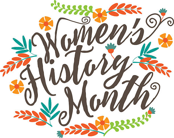 stockillustraties, clipart, cartoons en iconen met women's history month design. - geschiedenis