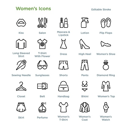 Women's Icons - Outline
