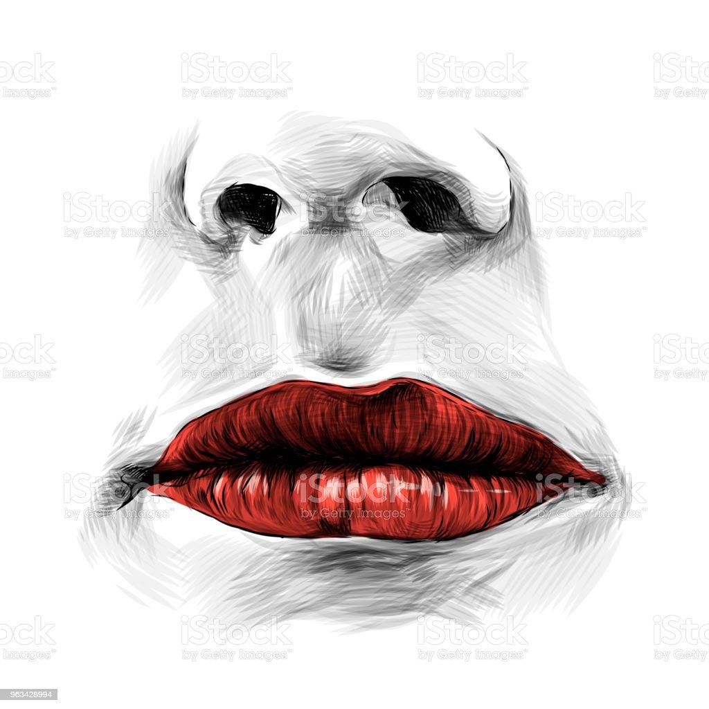 usta kobiet - Grafika wektorowa royalty-free (Elegancja)