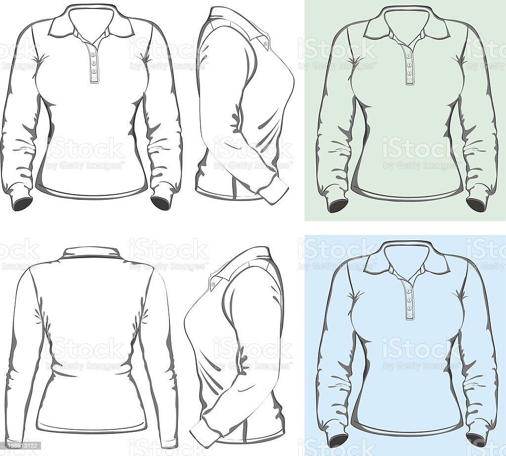 Long Sleeve Shirt Template Eps