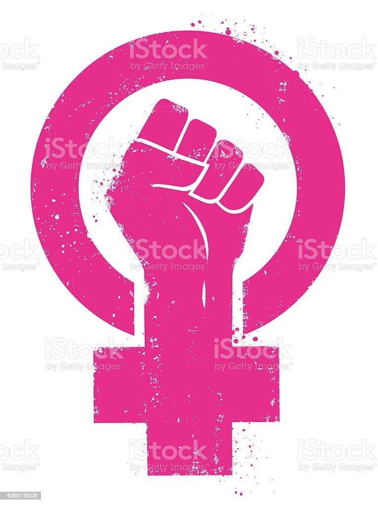 Women's March vector art illustration