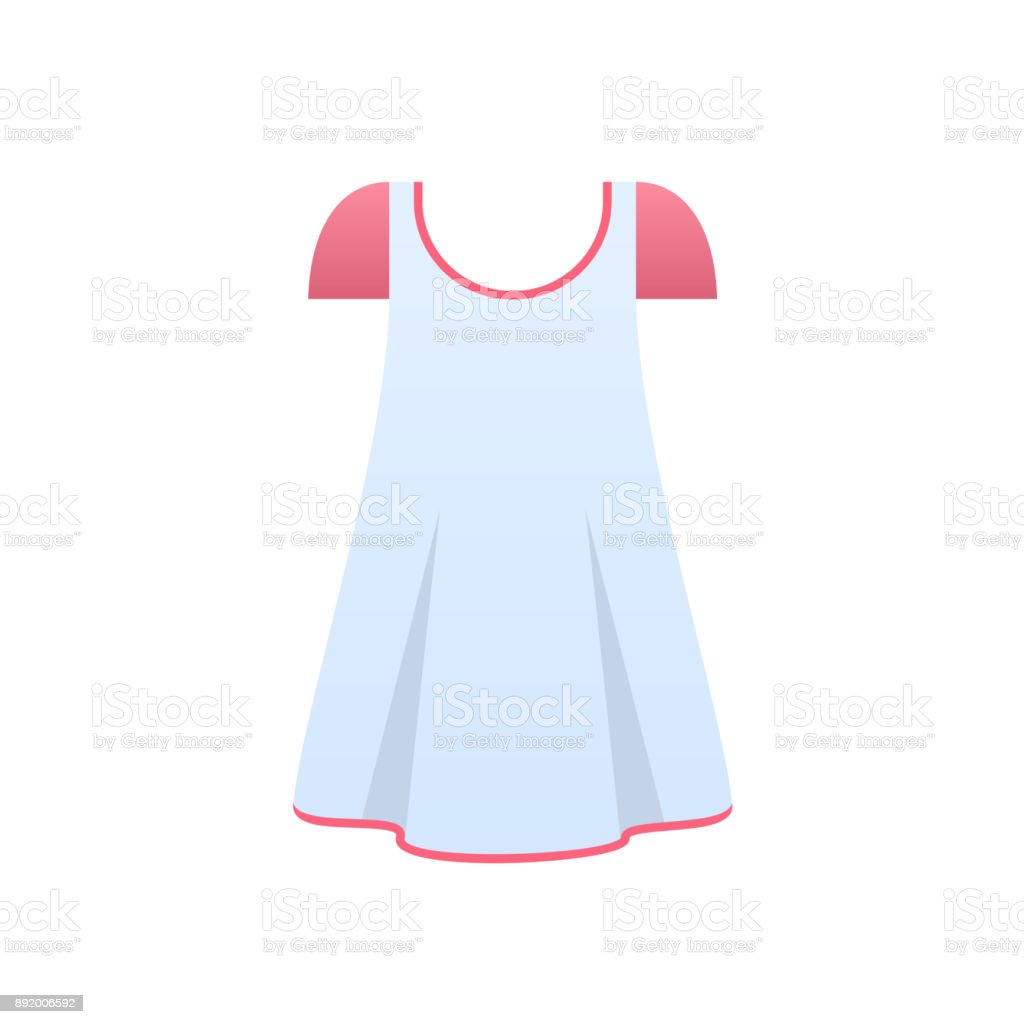 Women's pajamas, nightgown, sleeping shirt, home clothes, night suit, wardrobe vector art illustration