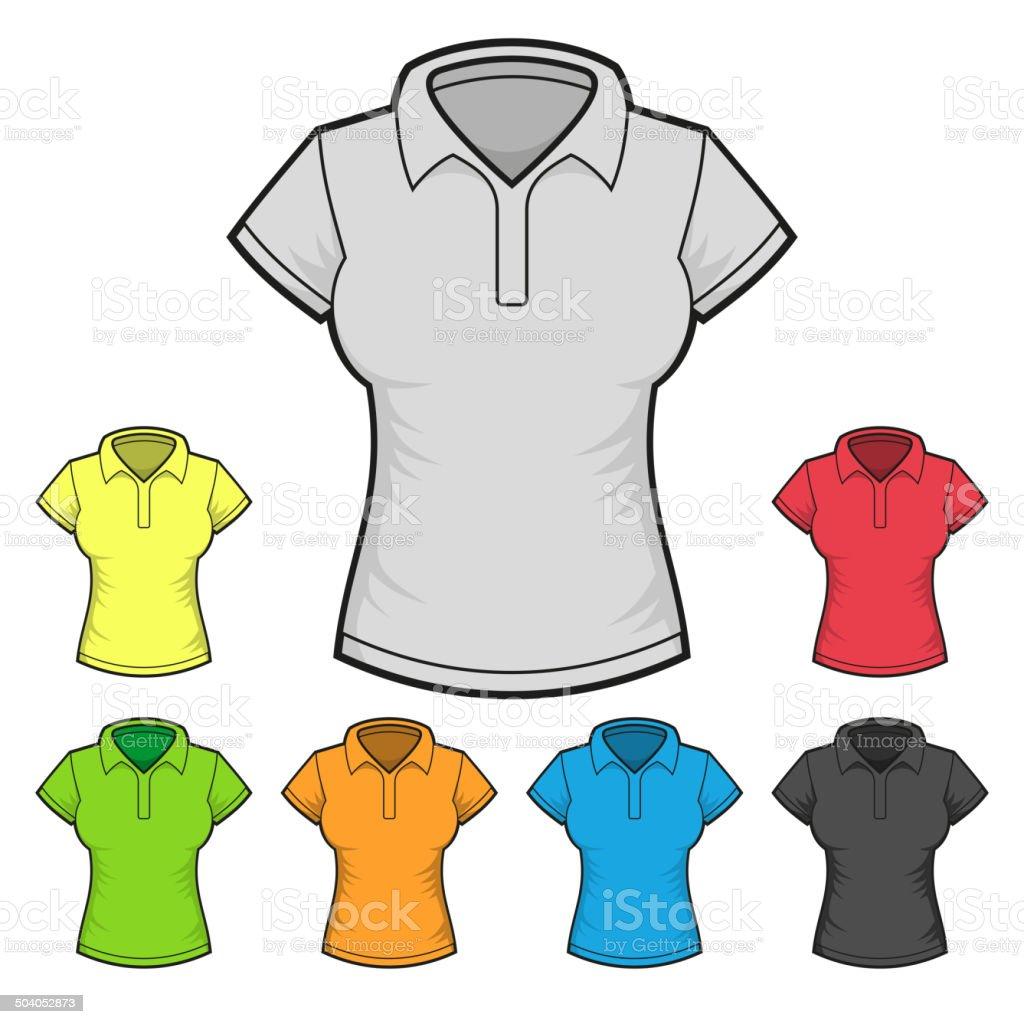 Design Vettore Tshirt Colore Donna Modello Di Impostato Polo BoeCxdr