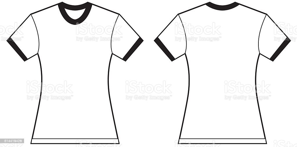 Womens Ringer Tshirt Design Template Stock Vector Art More Images - Cool t shirt design templates