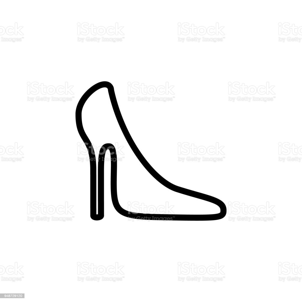 eac5186dfa women s shoe icon. Element of minimalistic icons for mobile concept and web  apps. Thin