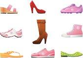 Women's shoes vector