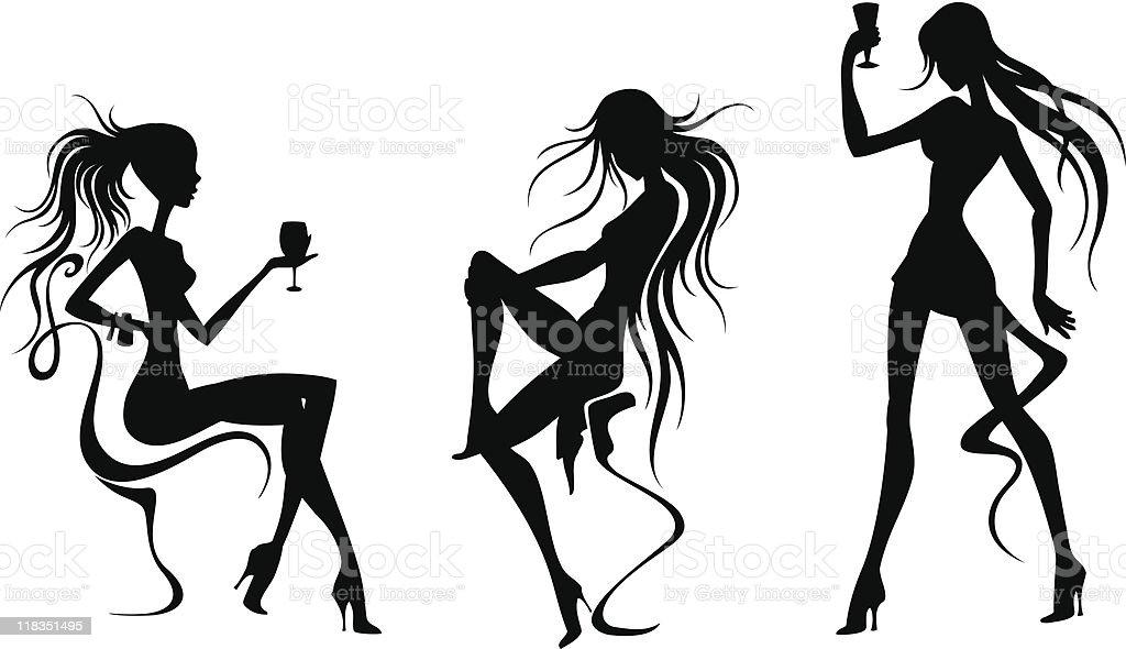 женские силуэты картинки