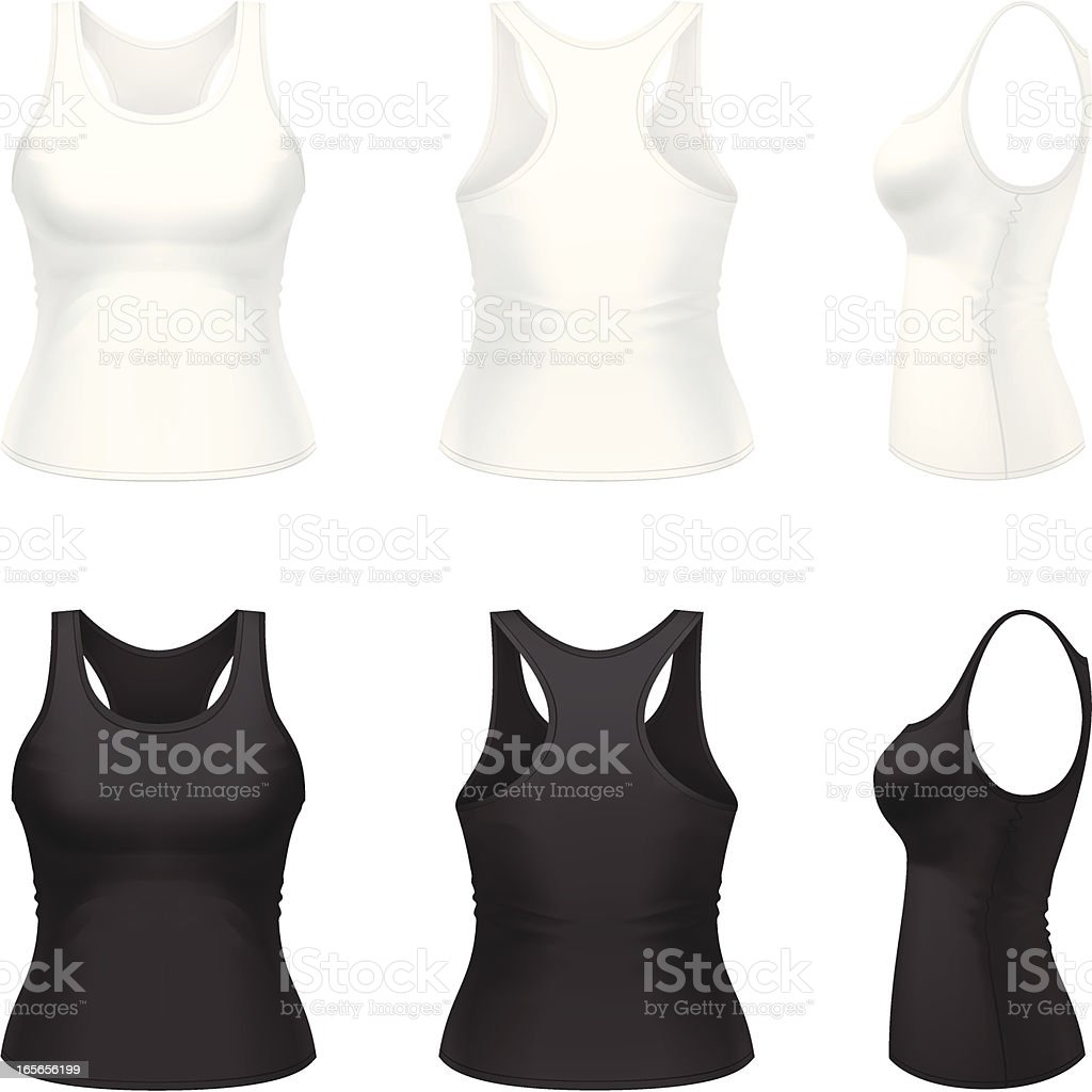 Women's singlet royalty-free womens singlet stock vector art & more images of black color