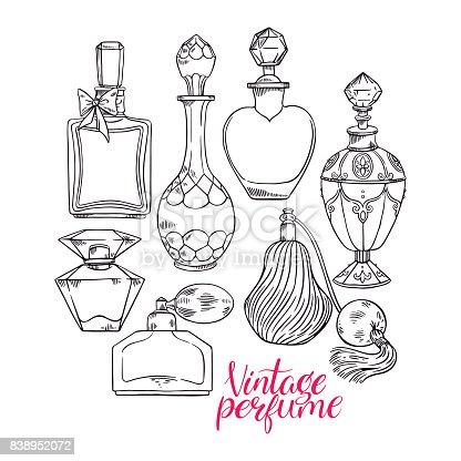 Womens Sketch Perfume Bottles Stock Vector Art Amp More