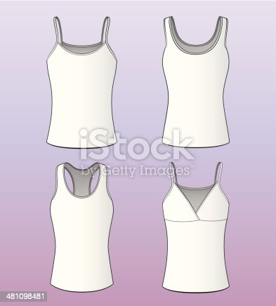 Women's sleeveless shirts