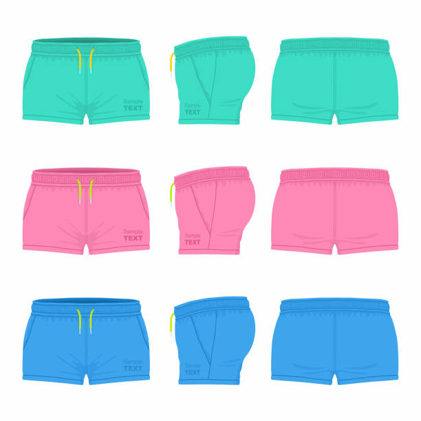 Bекторная иллюстрация Women's sport shorts