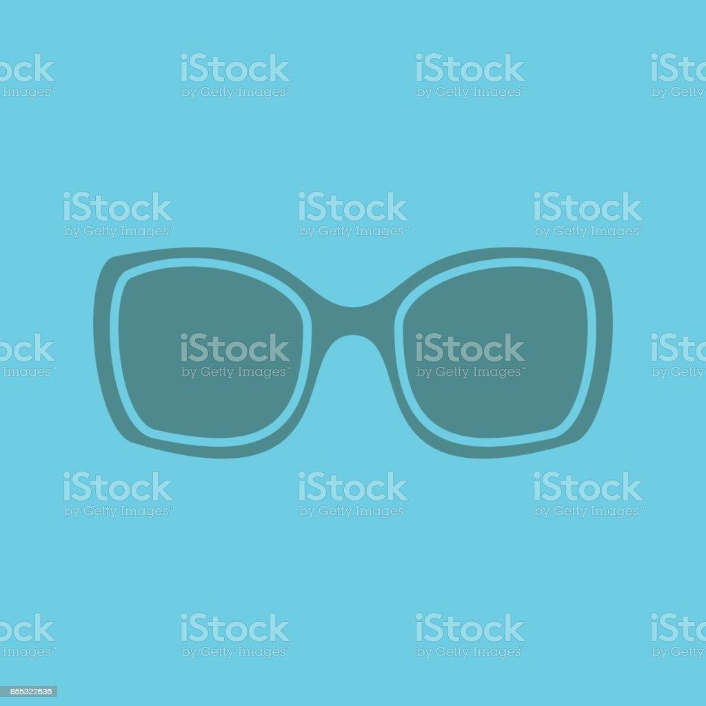 Damen-Sonnenbrillen-Symbol – Vektorgrafik