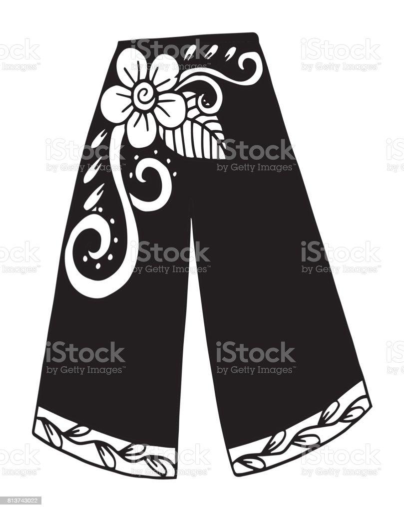 Ilustracion De Pantalones Ropa Dibujo De La Mujer Pantalones De Ilustracion Ropa Sombra Unico Objeto Textil Ilustracion Para Colorear Flor Cordon Textil Imagen Pintada Y Mas Vectores Libres De Derechos De Abstracto