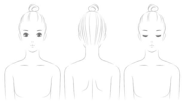 ilustrações de stock, clip art, desenhos animados e ícones de women's upper body - da cintura para cima